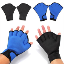 1Pair Blue Black Fingerless Duck Sphere Swimming Webbed font b Gloves b font for Surfing Swim