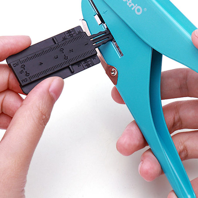 Perforatrice reliure à disque pour planner et bullet journal - réglette pour distance des trous
