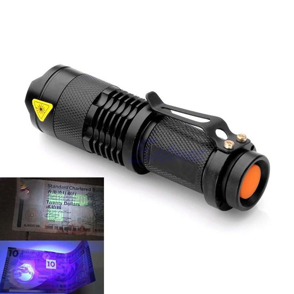Super Mini 600lm 3 Modes LED UV Flashlight CREE Q5 Waterproof  Zoomable LED lantern Torch Light Lamp Uesd By AA Or 14500 Battery