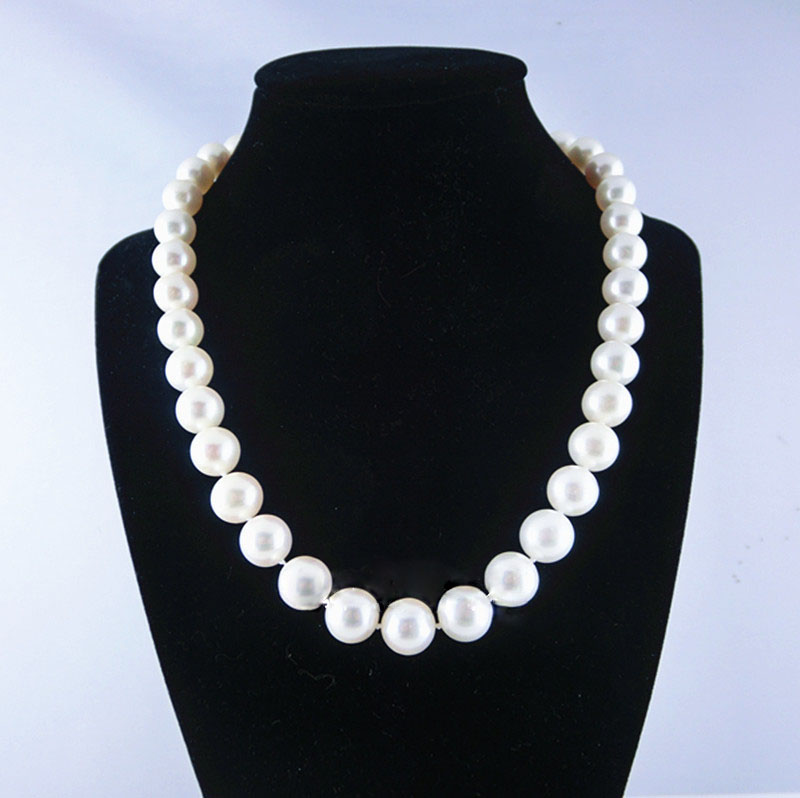 MADALENA SARARA ELEGANTE AAAA 8MM FRESHWATER PEARL NECKLACE MD NK 001012