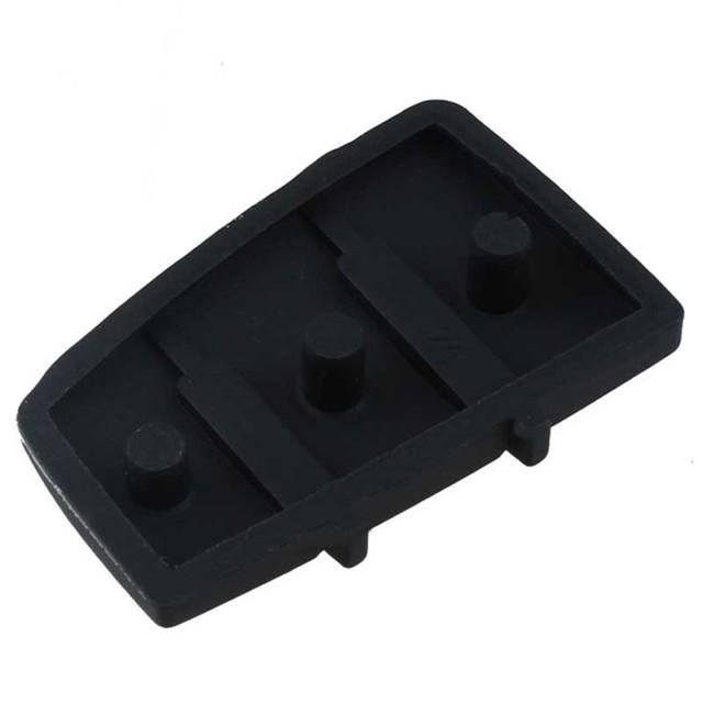 1Pcs 3 Button Remote Key Fob Case Cover Car Key Pad Replacement for Audi A3 A4 A6 TT Q7 Durable Rubber Black