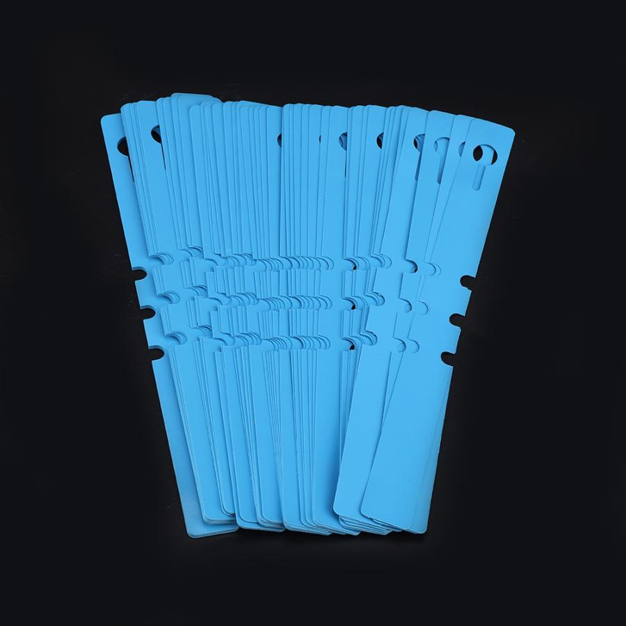 100 шт. 21*2 см Пластик детский сад настенный Декор теги ярлыки завода Газон Орнамент белый/синий/розовый из ПВХ маркеры для садовых инструментов