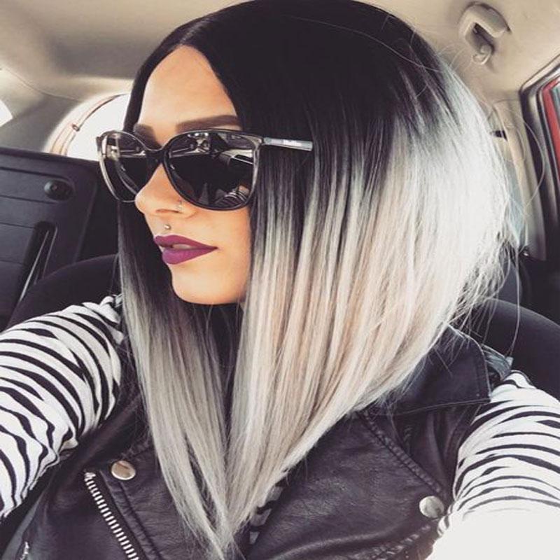 2016 nouvelles tendances gris ombre cheveux noir 224 gris synth 233 tique