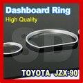 Frete grátis para Toyota JZX 90 Prata Calibre Cluster Anéis Dashboard
