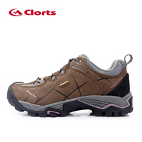 2016 Clorts Women Hiking Shoes HKL 805C Real Leather Non Slip Outdoor Trekking Shoes Waterproof Sport