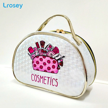 PU Laser Magic Color Makeup Organizers Fashion large capacity portable Travel Cosmetic Bag bathroom waterproof wash Storage Bags недорого