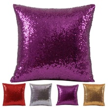 1PC VR Discoloration Magic Pillow Two Tone Glitter Sequins Pillows Decorative Cushion Case Covers New