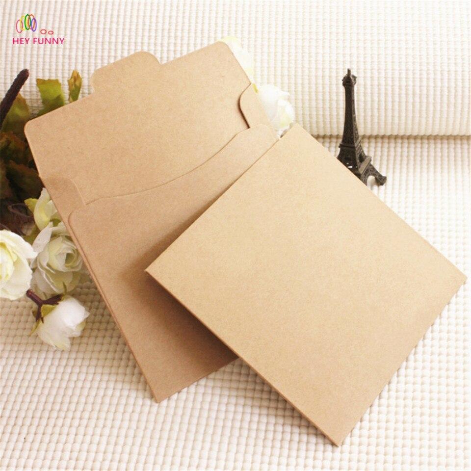 10 шт./компл. классический коричневый цвет Крафт Бланк мини Бумага окна конверты свадебные приглашения конверт Подарочный конверт
