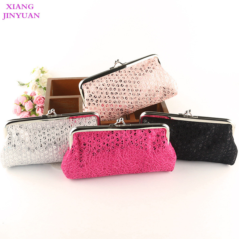 Fashion Personality Paillette Women Zero Wallet 2018 New Elegant Hasp Coin Purse 5 Inch Phone Bag Girl Pink White Red Small Bag