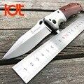LDT Browning DA51 Cuchillo de Hoja Plegable 5Cr13Mov Hoja de Palo de rosa de Acero Cuchillos Tácticos de Caza de La Manija Cuchillo Que Acampa EDC Herramientas OEM