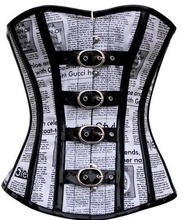 Personality Paper Pattern Buckles Corset