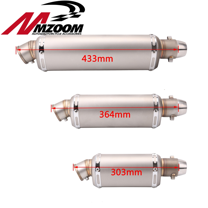 Motorcycle exhaust motorbike muffler silencer escape moto exhaust pipe for Cbr ttr yzf 250cc 300cc