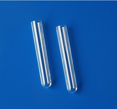 clear PS 12X100MM plastic tube round bottom without cap free shipping