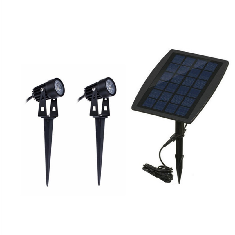 Solar lights outdoor waterproof ultra-bright courtyard landscape decorative lamps two LED lawn lights LU9031519 led solar pillar lamps waterproof hanging lights outdoor garden lawn fence cottage gate courtyard landscape decorative lighting