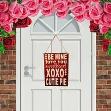 LOVE YOU Wooden Letter Rede Wall Door Hanging Board Plaques Signs Plate Valentine Day Home Decor valentine s day love stage pattern wall hanging tapestry