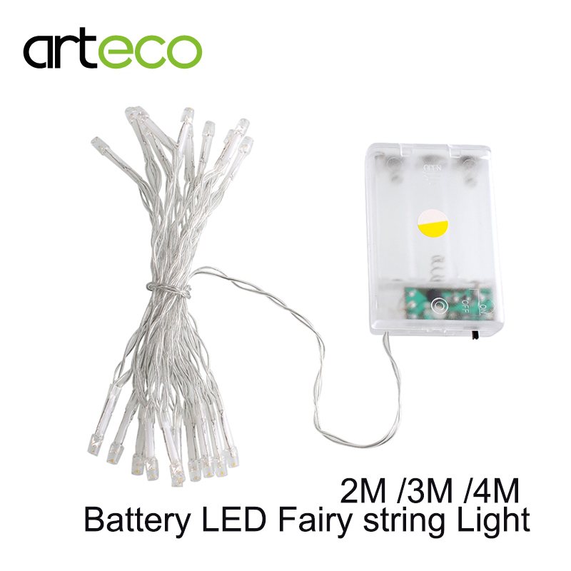 3AA Battery powered LED string Light 2M 3M 4M colorful Xmas LED Fairy lights decoration party ...