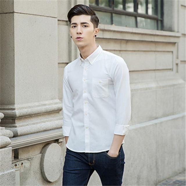 Plus Size Korean Mens Dress Shirt 2017 Casual Clothing ...