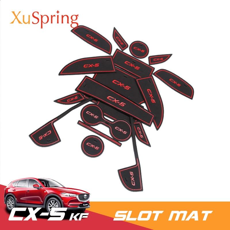 For Mazda CX 5 CX5 2017 2018 2019 KF Car Cup Anti Slip Door Slot Mat