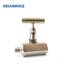 1PC SPNV ( F * F ) Female Type Stainless Steel Needle Valve High Quality 6000 Psi Pressure NPT 1/4