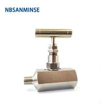 цена на 1PC SPNV ( F * F ) Female Type Stainless Steel Needle Valve High Quality 6000 Psi Pressure NPT 1/4