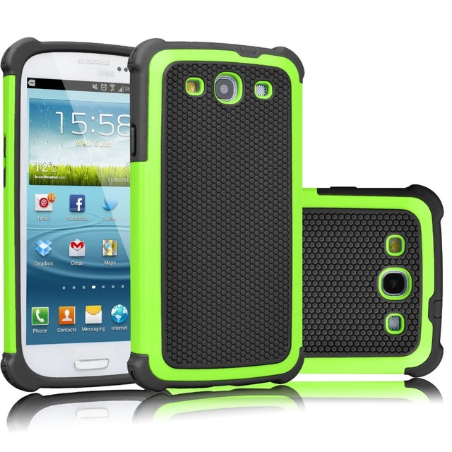 meet 0fc22 c4101 US $3.55 |Rugged Armor Phone Case For Samsung Galaxy S3 Case For Galaxy S3  i9300 S3 Neo I9300I I9301I Rubber Impact Shockproof Hard Cover-in Fitted ...