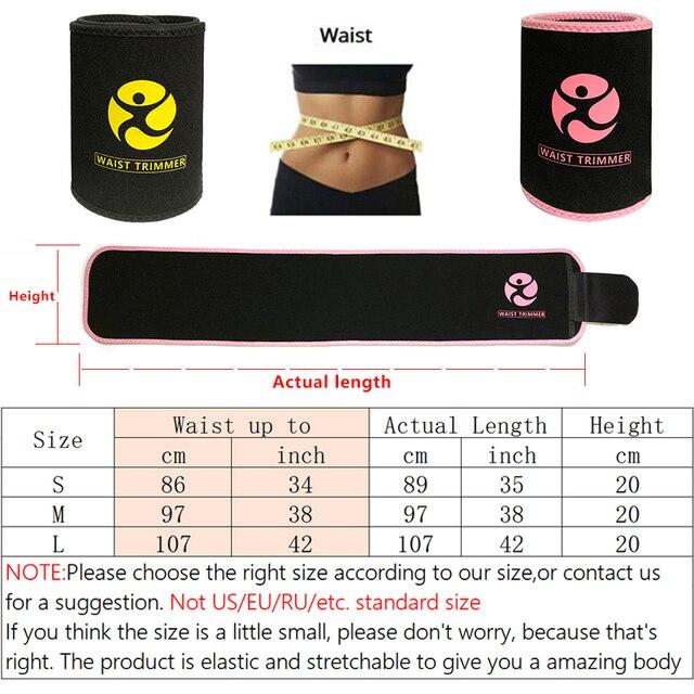 Waist Trainer for Women & Men Weight Loss Neoprene Sweat Waist Trimmer Slimmer Belt Adjustable Stomach Wraps Belly Fat Burner 1