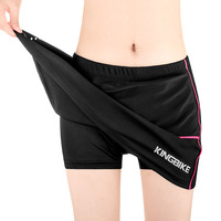 KINGBIKE Women Breathable Cycling Shorts Skirts 3D Sponge Padded Outdoor Sport MTB Road Bicycle Bike Riding Skirts Ropa Ciclismo