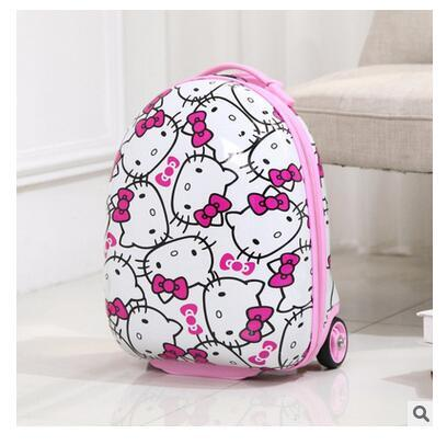 Kid's Travel Case Cartoon School Trolley Case For Kids School Trolley Bag on wheels little Kids Children's Luggage suitcase