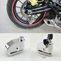 8mm Chrome Motocicleta Bicicleta Roda Da Bicicleta do Freio de Disco Trava de Segurança do Alarme Auto-Braço 100dB