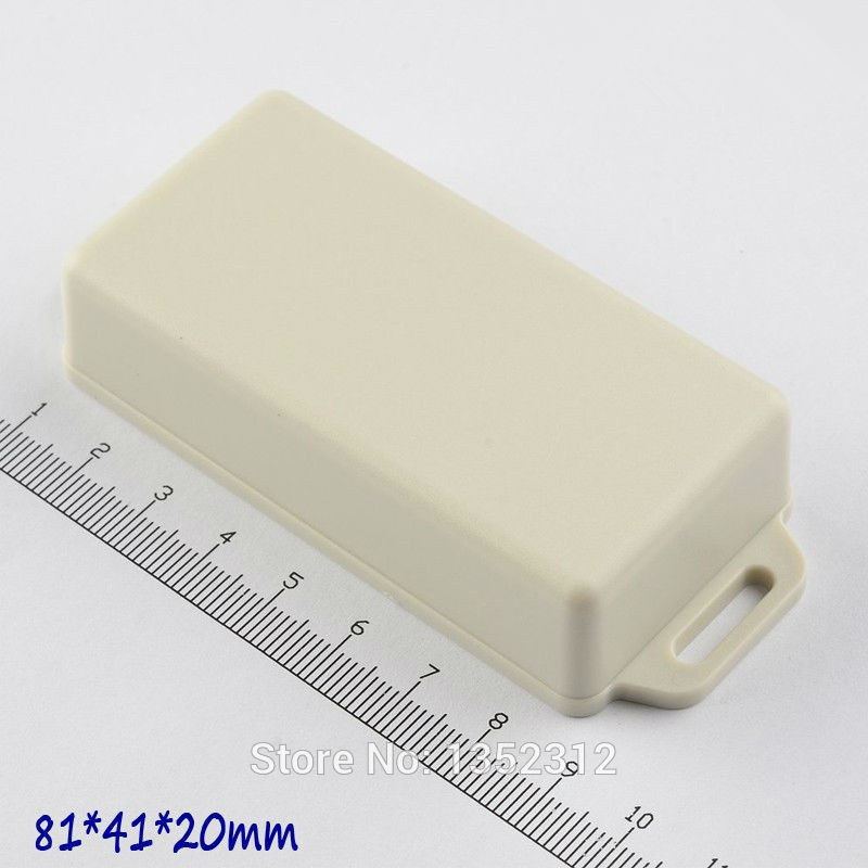 50 pcs/lot 81*41*20mm plastic instrument box PLC enclosure for electronic wall mount outlet box waterproof small DIY control box