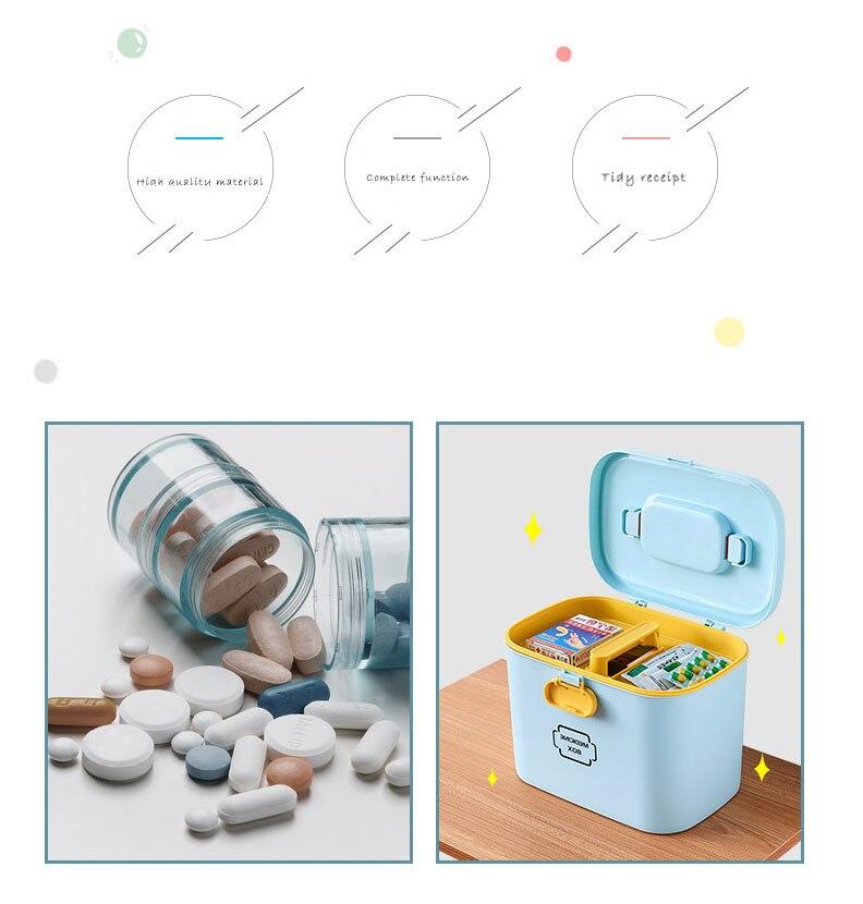 organizador grande caixa médica recipiente de plástico