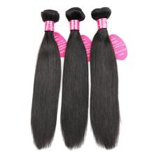 Királynő, mint a hajápolási termékek 3 darab / csomó brazil egyenes haj 100% emberi haj természetes színű Remy brazil hajvessző Bundles
