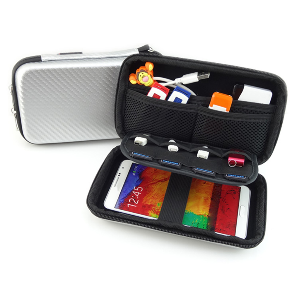 Portable Hard Drive Disk Storage Protective Case Cover Cable Phone Power Bank