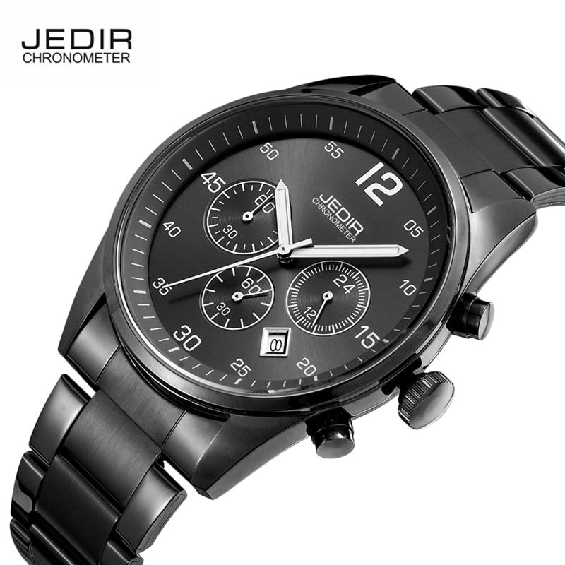 ФОТО JEDIR Original Chronograph Men Watches Stainless Steel Luminous Fashion Military Quartz Watch with Calendar Relogio Masculino
