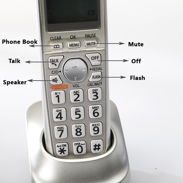 DECT6.0 Home Cordless Phone Handset