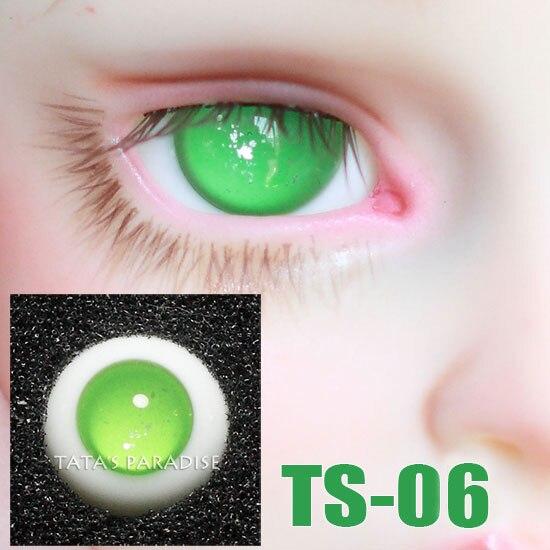 14mm green no pupil BJD Eyes Eyeballs for 1 3 1 4 1 6 BJD SD