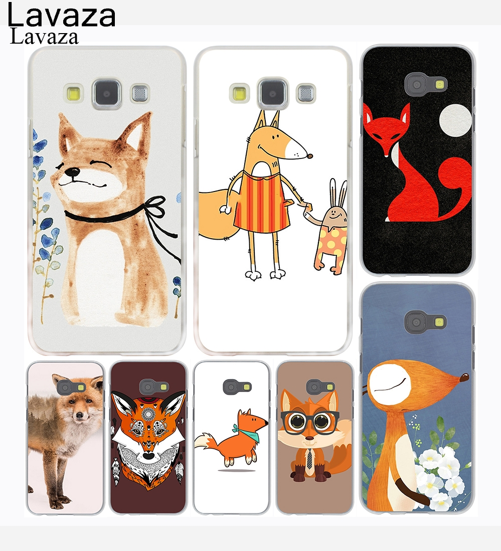 Industrious Lavaza Fox And Moon Semicolon Version Hard Phone Case Shell For Samsung Galaxy A3 A5 2017 A9 A8 A6 Plus 2018 Note 8 9 Cover For Improving Blood Circulation Cellphones & Telecommunications
