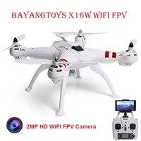 Mejor BAYANGTOYS X16 profesional GPS RC Drone con Motor de cámara sin escobillas 2,4G 4CH 6 Axis Quadcopter RTF helicóptero de retorno automático