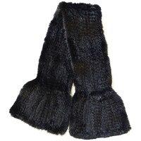 Valpeak 2017 Winter Women Scarf Female Knitted Real Mink Fur Scarf Black Brown Natural Mink Fur Neck Scarf Women Winter