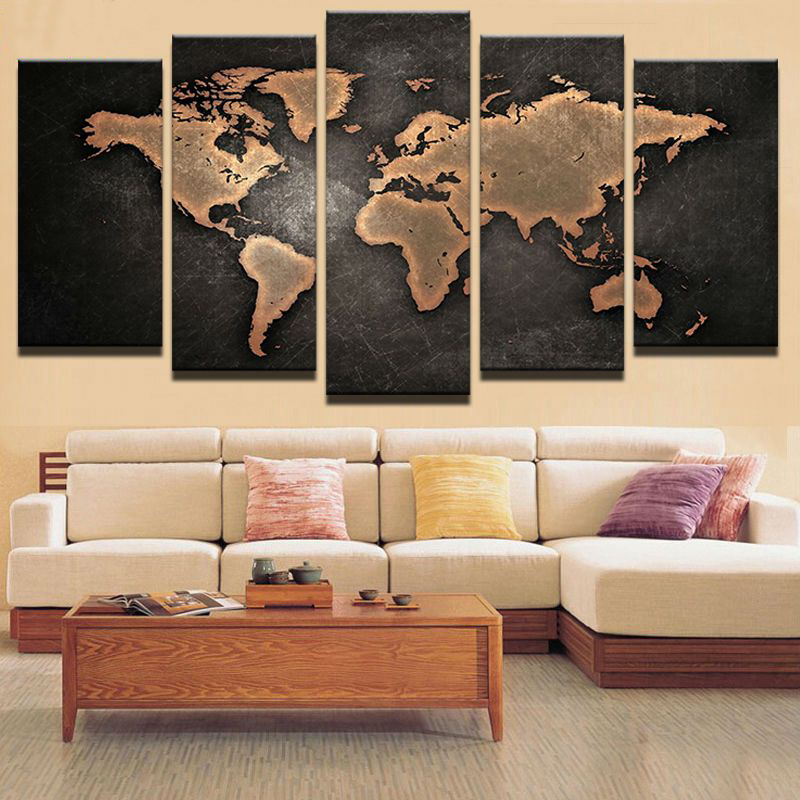 diy 5pcs Black world world Map diamond painting crystal diamond embroidery full spuare round crystal painting