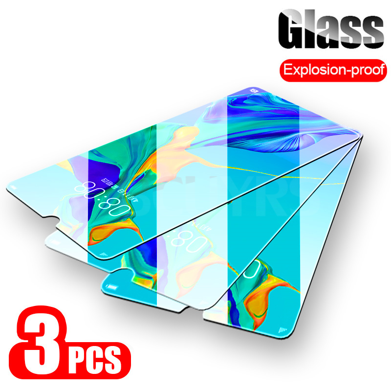 BCUYRS 3-1Pcs Full Cover Tempered Glass for Huawei P20 Lite Screen Protector Film For