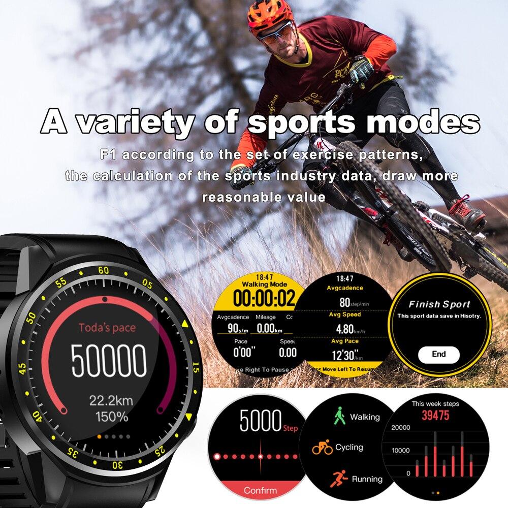 F1 montre intelligente hommes carte SIM sport SmartWatch GPS soutien podomètre Bluetooth 4.0 caméra montre-bracelet femmes pour IOS Android téléphone - 5