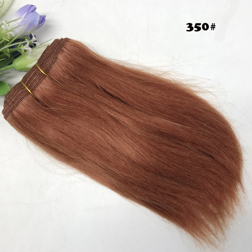Hair Wefts Black Brown Khaki Red Straight Wool Hair Piece for BJD American SD Dolls DIY Wigs in Dolls Accessories from Toys Hobbies