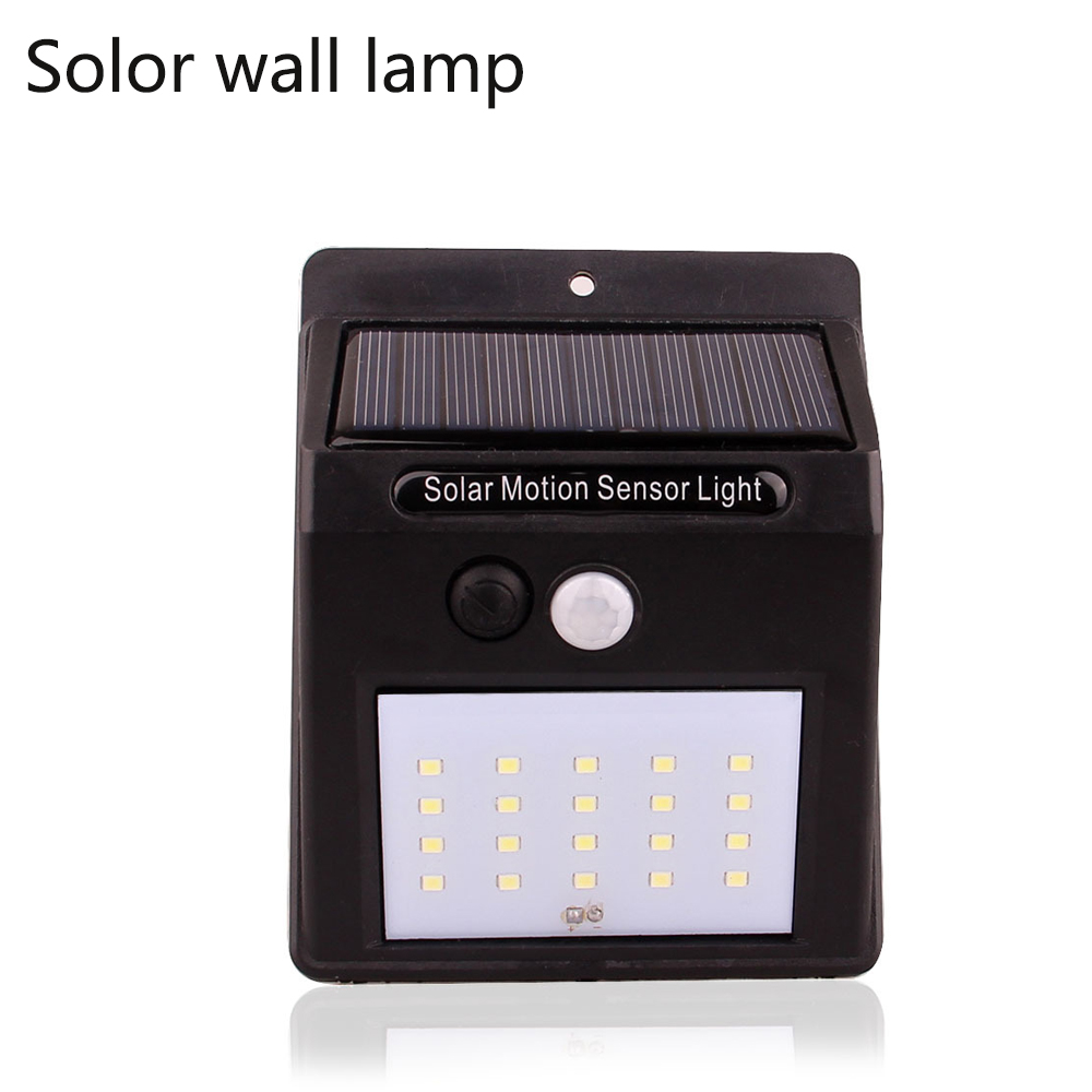 IP65 waterproof LED Solar Light Outdoor Lighting PIR Motion Sensor Solar panel Powered Light For garden decor Corridor wall lamp