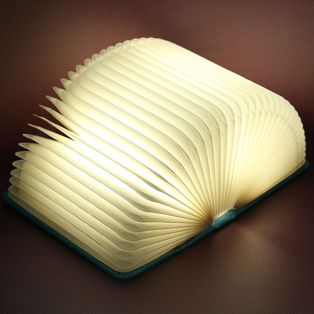 Magnética de lectura luz del libro plegado magia de color cambiante ...