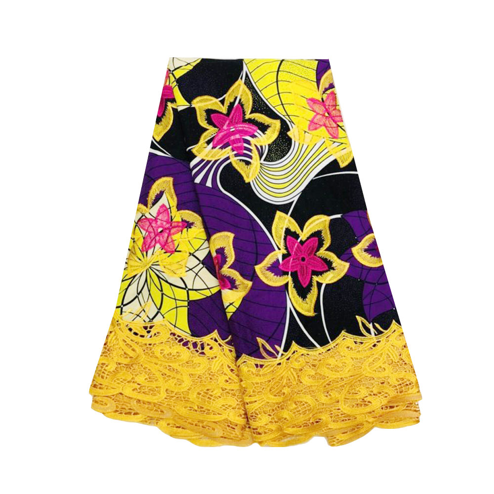 Ankara Lace Wax African Veritable Super JAVA Block Prints Wax Fabric for Party Dress Pagne Dutch Cotton Wax Fabrics Embroidery