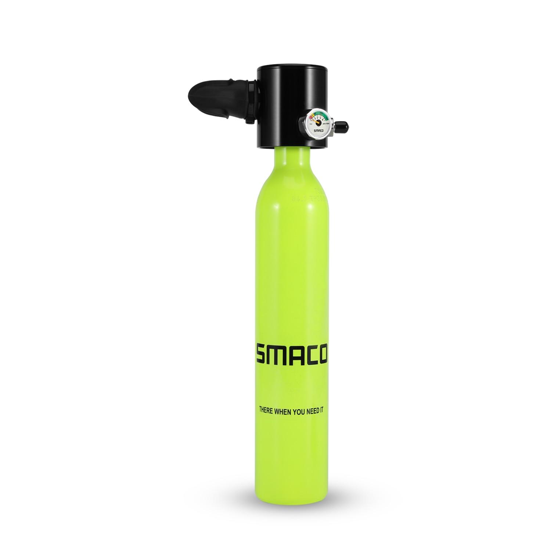 Smacoスキューバダイビングタンク装置、10分間の機能を備えたミニスキューバダイビングシリンダー、耐圧および耐腐食性素材