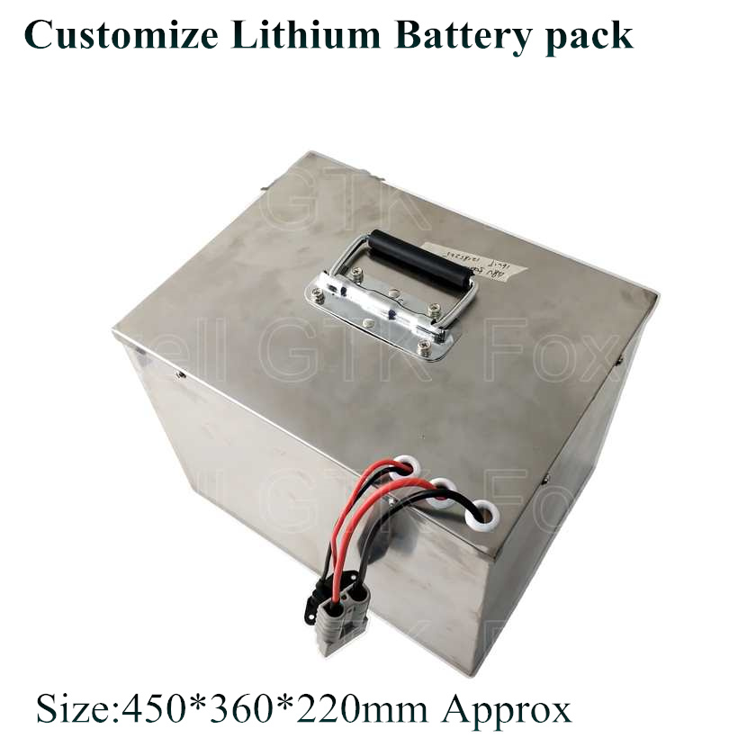 48v 5000wh battery pack lithium LMO NMC max 200A BMS for Electric outboards boats motor 8KW 5kw power fishing bait + 10A charger Картофель фри