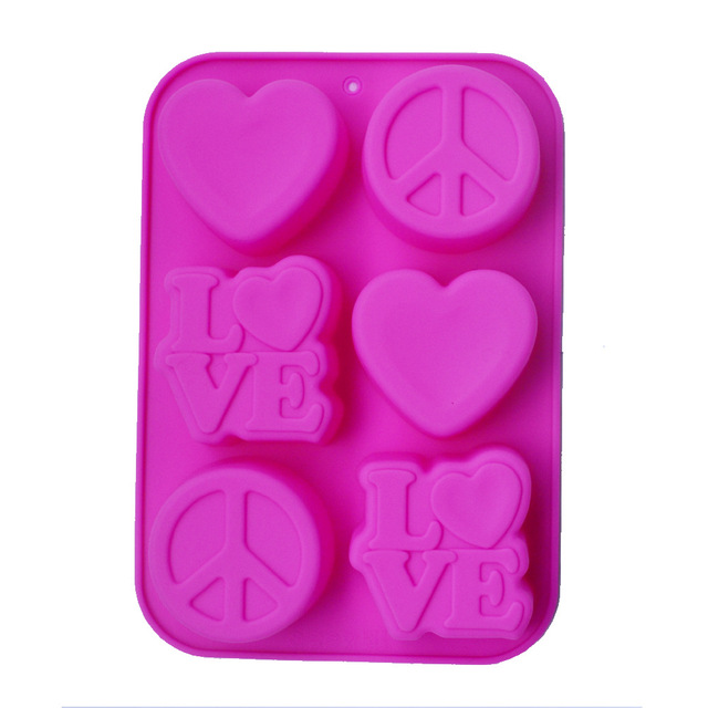 Food Grade Silicone Cake Baking Mould Handmade Heart Soap Making Molds Alphabet LOVE Craft Silicone Soap Mold Round