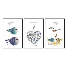 Factory wholesale (No Framed) Modern Bird series Canvas Print On Printing Wall Pictures 12YM-A-617